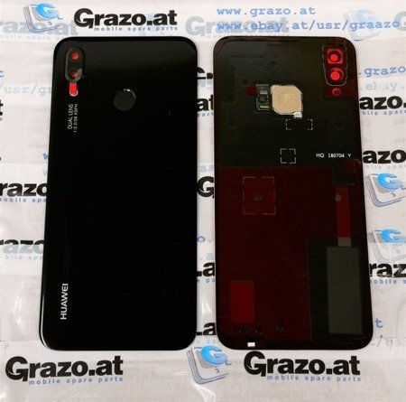 Huawei P20 Lite - Original Back Cover - BLACK - 02351VNT