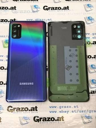 Samsung Galaxy A41 (SM-A415F) - Original Back Cover - PRISM CRUSH BLUE