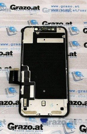iPhone 11 - OEM PULLED (LG) - Complete Display LCD + Front Frame + Touchscreen BLACK