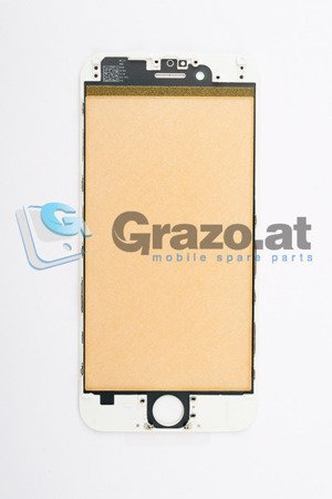 iPhone 6 - Display Glas with Frame WHITE