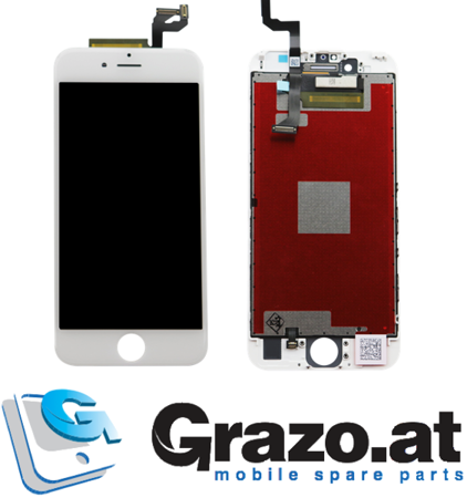 iPhone 6S - Complete Display LCD + Front Frame + Touchscreen WHITE - Grade AAA