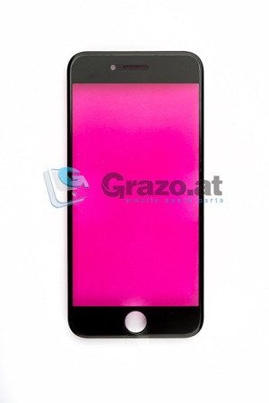 iPhone 7 - Display Glas with Frame BLACK