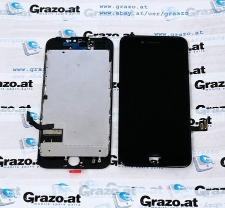 iPhone 7 - OEM REFURBISHED (Complete Display LCD + Front Frame + Touchscreen BLACK)