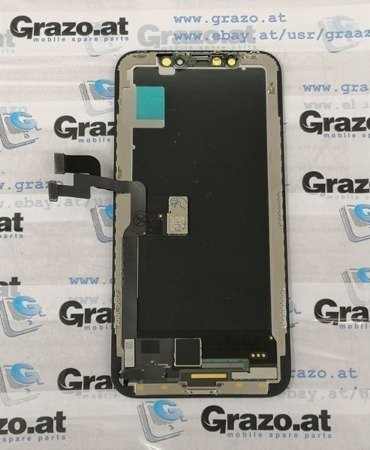 iPhone X - OEM PULLED - Complete Display OLED + Front Frame + Touchscreen BLACK