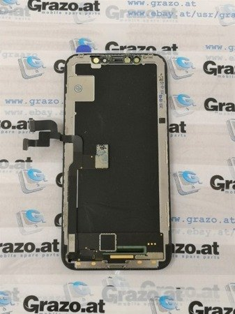 iPhone Xs - OEM PULLED - Complete Display OLED + Front Frame + Touchscreen BLACK