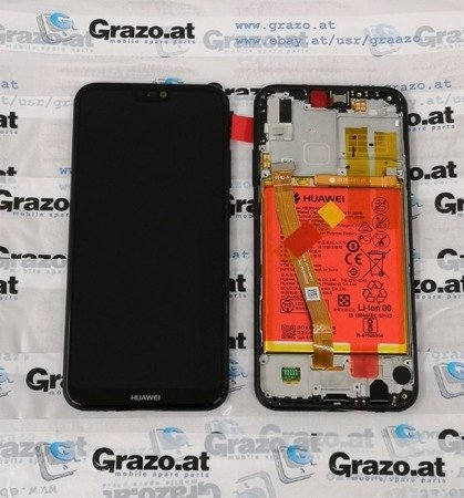 Huawei P20 Lite - Original Display LCD + Touch - SCHWARZ - 02351VPR / 02351XTY