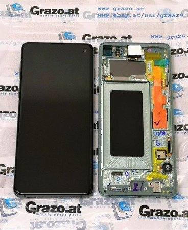 Samsung Galaxy S10 (SM-G973F) - Original Display LCD + Touchscreen + Frame - GRÜN