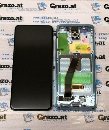 Samsung Galaxy S20 (SM-G980F) - Original Display LCD + Touchscreen + Frame - BLAU