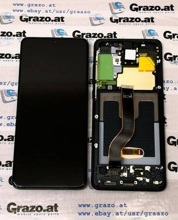 Samsung Galaxy S20 Ultra (SM-G988B) - Original Display LCD + Touchscreen + Frame - SCHWARZ