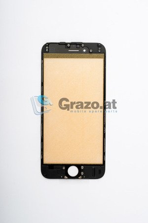 iPhone 6 - Display Glass with Frame BLACK