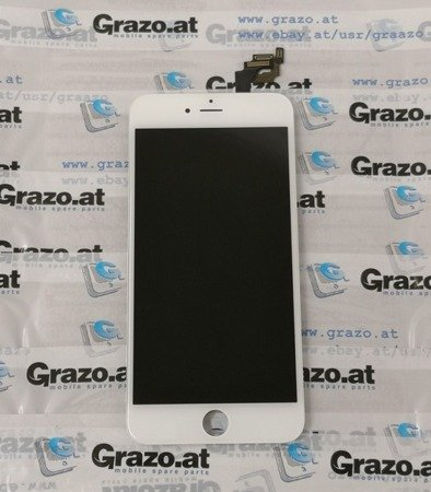 iPhone 6 Plus - OEM REFURBISHED - Komplett Display LCD + Front Rahmen + Touchscreen WEISS