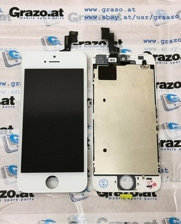 iPhone SE / 5S - OEM REFURBISHED - Komplett Display LCD + Front Rahmen + Touchscreen WEISS